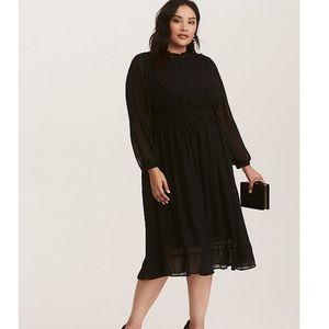 torrid Dresses - Torrid Black Lace and Chiffon High Neck Dress d3bb7536e